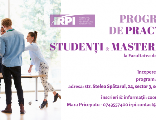 IRPI – Practica studenti si masteranzi Psihologie